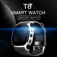 T8 Bluetooth Smart Watch Smart Watch With Camera Facebook Whatsapp Support SIM TF Card Call Smartwatch For Android