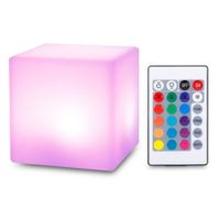 USB Rechargeable LED Cube Shape Night Light with Remote Control for Bedroom
