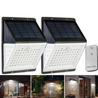 88 LED Solar Power Motion Sensor Light Voice Remote Control Outdoor Yard Wall Lamp