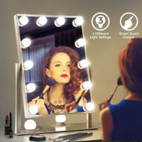 Maxkon Hollywood Style Makeup Mirror 12 LED Lights Vanity Mirror w/Touch Control