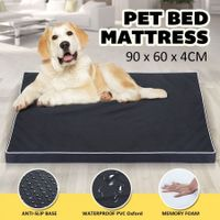 Memory Foam Pet Dog Bed Mattress Waterproof Soft Puppy Cat Mat Pad Cushion 90x60cm