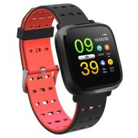 Y8 Color Screen Heart Rate Smart Watch Bluetooth Calls Reminder Sleep Monitor - Red