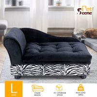 Extra Large Pet Bed Dog Cat Bed Sofa Couch Cushion Puppy Lounge w/Storage Space