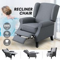 Luxdream Sofa Recliner Chair Armchair Single Padded Fabric Couch Lounge Living Room Furniture