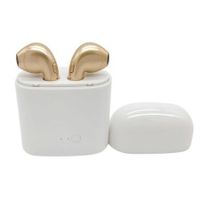 I7S TWS Mini Wireless BT Earphone Music Sport Headset In-ear Earbud Hands-free Earpiece -Golden color