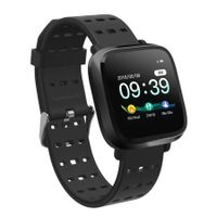 Y8 Color Screen Heart Rate Smart Watch Bluetooth Calls Reminder Sleep Monitor - Black