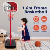 1.6m Kids Portable Basketball Hoop Stand System w/Adjustable Height