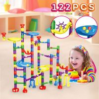 136PCS Marble Run Game Marble Race Track Light Marbles Kids Birthday Gift