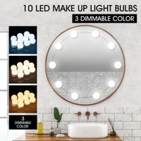 Vanity Mirror LED Light Bulbs 3 Colours Optional Dimmable 10 LED Bulbs