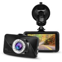 4.0 inch metal case night vision dual screen car dash dvr camera
