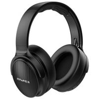 Bluetooth 5.0 Foldable Bass Wireless Headphone with 3.5mm Aux Jack   -Black
