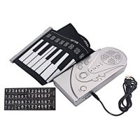 49 Keys Silicone Foldable Electronic Digital Roll-up Keyboard Piano with Speaker