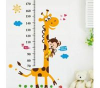 Giraffe PATTERN Measure Your Height Wall Stickers DIY Removable Art Wall Sticker Decor Mural Decal