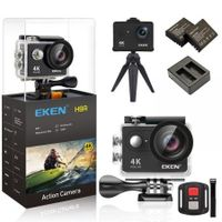 "EKEN SH9R Action Camera 4K Ultra HD 1080p/60fps Mini Helmet Cam WiFi 2.0"" 170D Waterproof Sport Camera 12MP Photo and 170 Wide Angle Lens Includes 11 Mountings Kit 2 Batteries Black Video Camera"