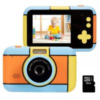 Kids Digital Cameras for Girls Selfie Rechargeable Child Mini Toddler Toy Camera for Kids 2.4Inches HD Screen Video Camcorder with FLash Light Gift for 4-8 Years Old Boys for Photograph Blue