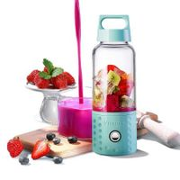 Personal Smoothie Blender, Kacsoo Detachable Portable Blender Fruit Mixer, Single Serve Juicer Cup, Lightweight USB Rechargeable Travel Blender for Shakes and Smoothies, FDA Approved,BPA Free(Blue)