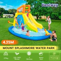 Bestway Mount Inflatable Water Park Slide Kids Play Center with Climbing Wall