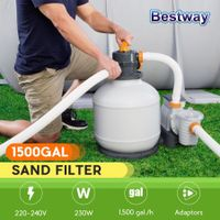 Bestway 5678L/1500gal Sand Filter Pump for Above Ground Swimming Pools