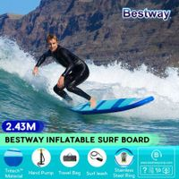 Bestway 2.43x0.57m Inflatable Surfboard Hydro Force