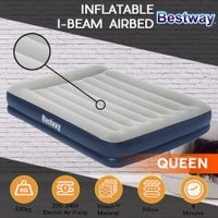 Bestway Inflatable Bed Queen Air Mattress 36cm with Built-in Pump and Pillow
