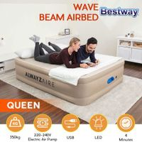 Bestway AlwayzAire Air Bed Mattress 51cm Queen Size with Built-in Dual Pump