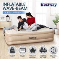Bestway Queen Size Air Bed Inflatable Mattress with Built-in Pump