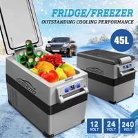 45L Portable Car Fridge Freezer Cooler 12V/24V/240V Caravan Boat Camping Fridge