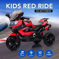 20W Pedal Activated Three Wheel Motorbike Ride on Toy for Kids