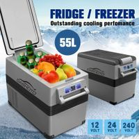 New 55L Portable Fridge Freezer Cooler 12V/24V/240V Caravan Boat Camping Fridge