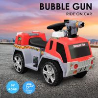 New 6V 4.5Ah Kids Ride on Electric Car Fire Fighting Truck w/ Bubble Gun