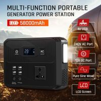 58000mAh 215WH Portable Generator Lithium Charging Power Station Camping