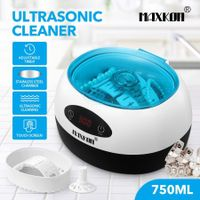 MAXKON 750ml Touch Screen Ultrasonic Jewellery Cleaner for Rings Necklaces Watches Glasses