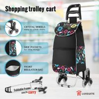 Foldable Shopping Trolley Bags Carts with Stair Climbing