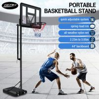 2.23-3.05m Large Portable Basketball Hoop Stand System Quick Height Adjustable