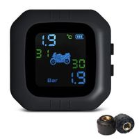 Tire Pressure Monitoring System Motorcycle TPMS Real-time Tester LCD Screen 2 External Sensors