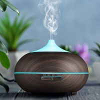 550ML Aroma Diffuser Humidifier Retro Drum Shape 7-color Changing / Fixable Night Light 3-mode Mist Time