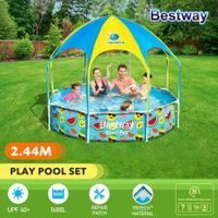 Bestway Splash-in-Shade Sprayer Swimming Pool Family Kids Play Center with UV Canopy