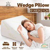 Luxdream Wedge Pillow of Memory Foam and Cooling Gel Leg Elevation Pillow