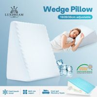 Luxdream Adjustable Wedge Pillow with Cool Gel Memory Foam Cool Cover