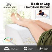 Luxdream Wedge Pillow Leg Elevation Pillow with Cool Gel Memory