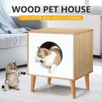 Petscene Hidden Kitty Litter Box Enclosure Cat Dog House