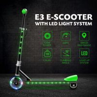 New Electric Kids Scooter Kick Start with LED Lights Adjustable Handlebar Rear Foot Brake