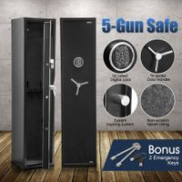 New 5 Gun Electronic Storage Locker Safe with Internal Security Box