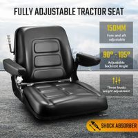 Tractor Seat Forklift Excavator Truck Seat Backrest Chair PU Leather