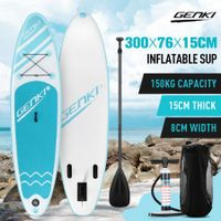 GENKI 300m Inflatable Stand Up Paddle Board SUP Boards Kayak with Accessories Blue