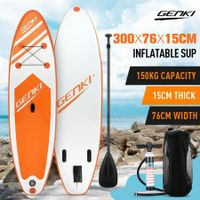 GENKI 300m Inflatable Stand Up Paddle Board SUP Boards Kayak with Accessories Orange