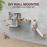 Deluxe Floating Cat Tree Cat Shelves Wall Mounted Cat Perch Set