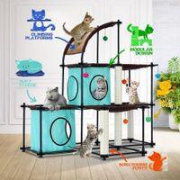 Petscene Cat Tree Condo Cat Furniture Claw Mega Kit with Scratching Post