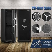 New 20 Gun Electronic Storage Locker Safe for Rifle Firearm with Internal Security Box