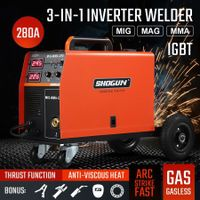 DC Inverter Welder MIG MAG MMA Gasless Welding Machine 280Amp